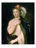 Female Portrait, circa 1536 Giclee Print by  Titian (Tiziano Vecelli)