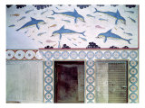 The Dolphin Frescoes in the Queen's Bathroom, Palace of Minos, 1600-1400 BC Giclee Print by Minoan