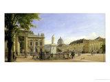 New Guardshouse, Arsenal, Prince's Palace and Castle in Berlin, 1849 Giclee Print by Johann Philipp Eduard Gartner