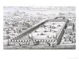 """View of Mecca, from """"Entwurf Einer Historischen Architektur"""", 1721 Premium Giclee Print by Johann Bernhard Fischer Von Erlach"""