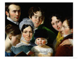 The Dubufe Family in 1820 Giclee Print by Claude-Marie Dubufe