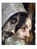 The Burial of Count Orgaz, from a Legend of 1323, Detail of the Franciscans, 1586-88 Giclee Print by  El Greco