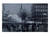 The Grands Boulevards, Paris, Decorated for the Celebration of the Franco-Russian Alliance in 1893 Giclee Print by Luigi Loir