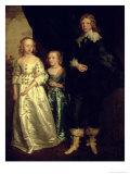 The Children of Thomas Wentworth, 1st Earl of Strafford Giclée-Druck von Sir Anthony Van Dyck