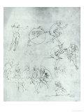 "Study of Figures for ""The Adoration of the Magi"" Giclee Print by Leonardo da Vinci"