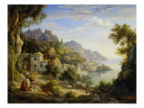 At the Gulf of Salerno, 1826 Giclee Print by Joachim Faber