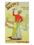 "Reproduction of a Poster Advertising ""Eugenie Buffet"", at the Republic Theatre Giclee Print by Leopold Stevens"