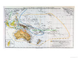 Map of the Races of Oceania and Australasia, from &quot;The History of Mankind&quot; Giclee Print