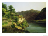 The Hallstatter Lake, 1824 Giclee Print by Franz II Steinfeld