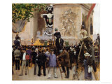 The Funeral of Victor Hugo at the Arc de Triomphe, 1885 Giclee Print by Jean Béraud