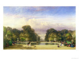 The Tuileries Gardens, with the Arc de Triomphe in the Distance, 1858 Giclee Print by William Wyld