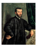 Portrait of Andrea Vesalius Lámina giclée por Jan Stephen Calcar