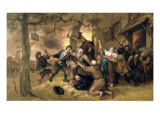 Peasants and Soldiers Outside a Tavern - an Allegory of the Rape of the Netherlands Giclee Print by Jan Havicksz. Steen
