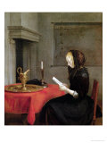 Woman Reading, circa 1662 Lámina giclée por Gerard Terborch