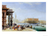 The Doge's Palace from Santa Maria Della Salute Giclee Print by Edward Pritchett