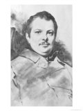 Portrait of Honore de Balzac circa 1820 Giclee Print by Louis Boulanger