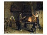 Interior of the Forge, 1837 Giclee Print by Rosine Parran