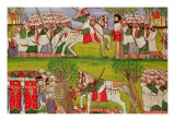 Burning of Churches by Muslims and the Death of Cristobal de Gama 1900 Giclee Print by  Kegneketa Jemlieri Hailu Of Gondar