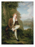 Portrait of a Man in Brown Giclee Print by Arthur William Devis