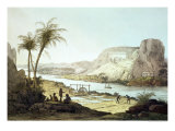 View of the Temples at Abu Simbel, Nubia Giclee Print by Giovanni Battista Belzoni