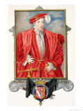 """Portrait of Henry Howard Earl of Surrey from """"Memoirs of the Court of Queen Elizabeth"""" Giclee Print by Sarah Countess Of Essex"""