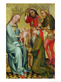 The Adoration of the Magi from the High Altar of St. Peter's in Hamburg, the Grabower Altar, 1383 Giclee Print by  Master Bertram of Minden