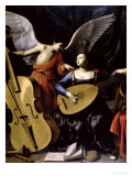 Saint Cecilia and the Angel Premium Giclee Print by Carlo Saraceni