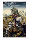 St. George Giclee Print by Lucas Cranach the Elder