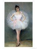 Portrait of a Young Ballerina Giclee Print by Pierre Carrier-belleuse