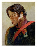 Study for a Portrait of Baron Dominique Larrey Premium Giclee Print by Paulin Jean Baptiste Guérin