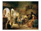 Coffee House in Cairo, 1870s Giclee Print by Konstantin Egorovich Makovsky