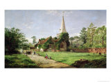 Stoke Poges Church Reproduction procédé giclée par Jasper Francis Cropsey