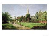 Stoke Poges Church Giclee Print by Jasper Francis Cropsey