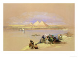 The Pyramids at Giza, Near Cairo Giclee Print by David Roberts