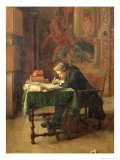 Young Man Writing, 1852 Giclee Print by Jean-Louis Ernest Meissonier
