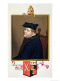 """Portrait of Edmund Bonner Bishop of London from """"Memoirs of the Court of Queen Elizabeth"""" Giclee Print by Sarah Countess Of Essex"""