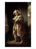 Edmund Kean as Richard III, 1814 Giclee Print by John James Halls