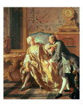 The Garter Giclee Print by Jean Francois de Troy
