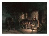 In Front of the Pub, 1843 Giclee Print by Hermann Kauffmann