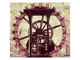 Model of a Water Wheel from One of Leonardo's Drawings Giclee Print by  Leonardo da Vinci