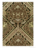 Mosaic Ecclesiastical Wallpaper Design Giclee Print by August Welby North Pugin