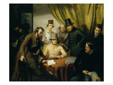 The Members of the Hamburg Artist's Club, 1840 Giclee Print by Gunther Gensler