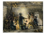 Interior of a Coal-Miner's Hut 1829 Giclee Print by Nicolas Toussaint Charlet