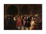 The Colloquy of Poissy in 1561, 1840 Giclee Print by Joseph-Nicolas Robert-Fleury