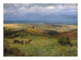 View of Kronberg in Taunus, Germany, 1879 Giclee Print by Hans Thoma
