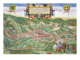 Map of Serravalle, from Civitates Orbis Terrarum by Georg Braun and Frans Hogenberg circa 1572-1617 Giclee Print by Joris Hoefnagel