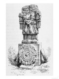 "Statue of the Goddess Coatlicue, from ""The Ancient Cities of the New World"" Giclee Print by P. Sellier"