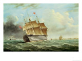 British Man-O-War Giclee Print by Thomas Buttersworth