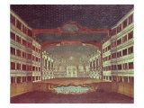 Interior of the San Samuele Theatre, Venice Giclee Print by Gabriele Bella
