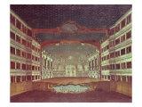 Interior of the San Samuele Theatre, Venice Giclee Print by Gabriele Bella